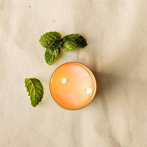 Mint Leaf 6 oz Gold Tin Candle