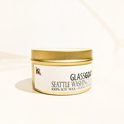 Seattle 6 oz Gold Tin Candle