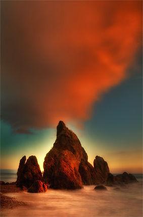 Ruby Beach, Washington at sunset
