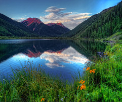 Red Mountain Reflections