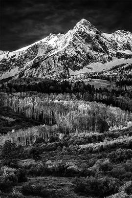 Hayden Peak Sunrise Too B&W