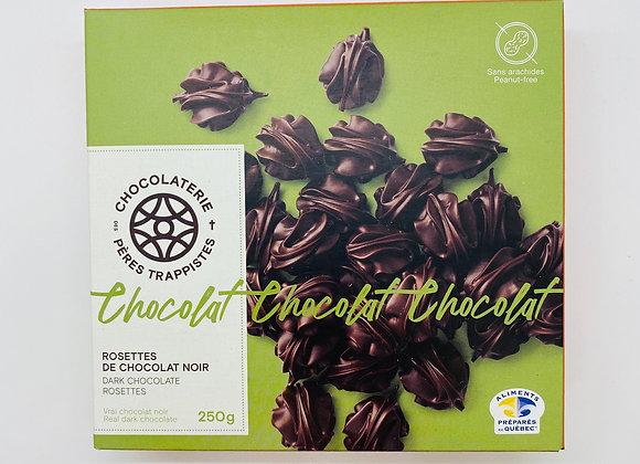 Dark chocolate rosettes