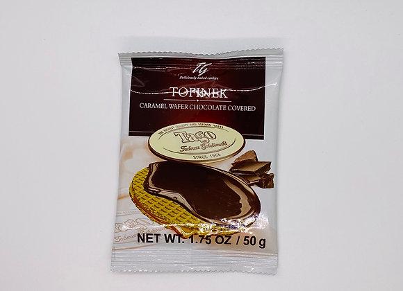 Gaufrette au caramel enrobés de chocolat