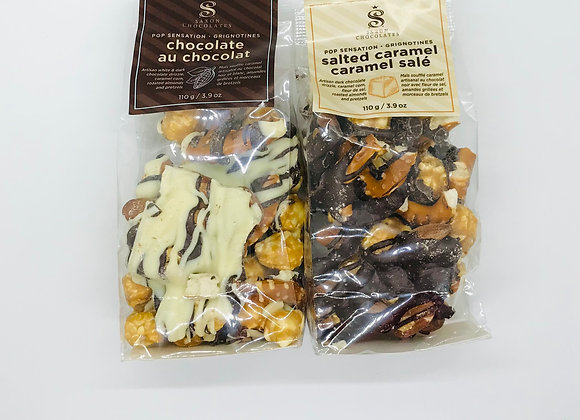 Belgian chocolate popcorn