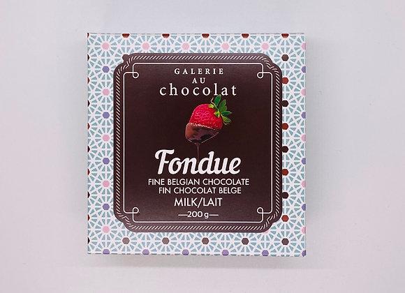 Belgian chocolate fondue