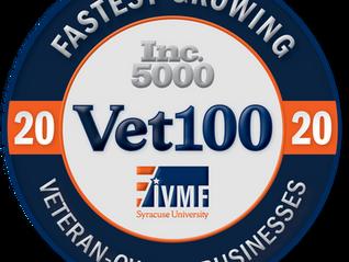 Prime Tech Ranked Top 50 Nationally on Inc.'s Vet100 List