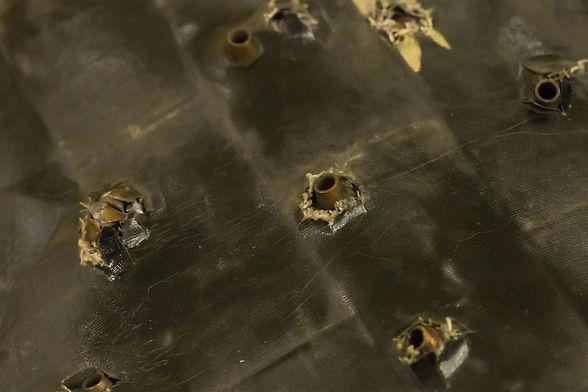 set of automaton shells stuck in a hard