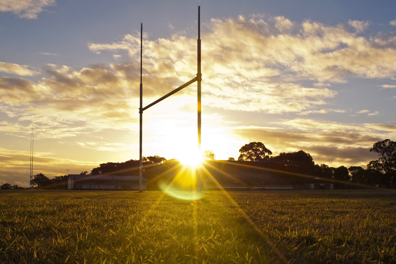 Goal posts for football, rugby union or