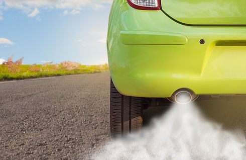 Combustion fumes of car exhaust pipe, Th