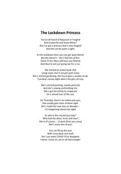 Ella McFetrich - The Lockdown Princ