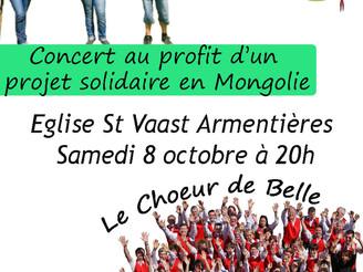 Concert solidaire avec les scouts à l'Église Saint-Vaast