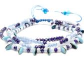 Pulsera semanario de cristal en tonos azules