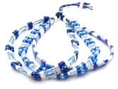 Pulsera semanario de cuentas Miyuki en tonos azules y blanco