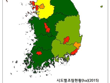 15.2 시도별조림현황(ha)(2015)