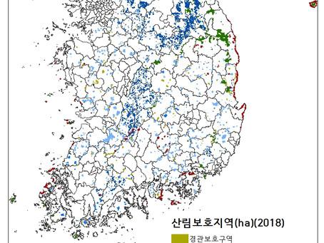 15.4.1 산림보호구역(ha)(2018)