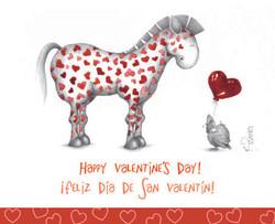 San Valentine's greeting card