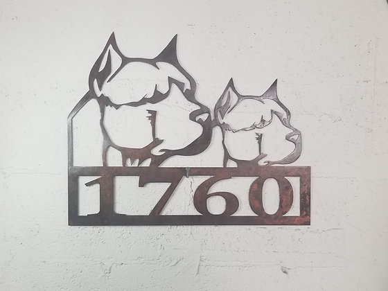 Pit Bull House Numbers