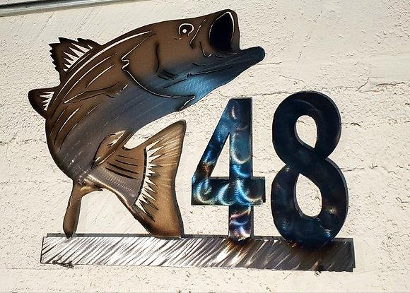 Stripped bass / rockfish monogram