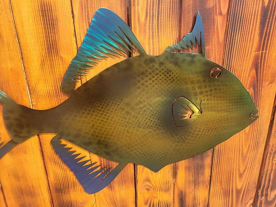 Trigger Fish Metal Art