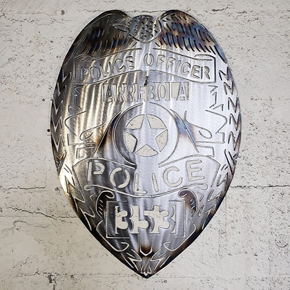 Custom police badges 24in tall