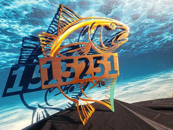 Redfish Monogram or House Number