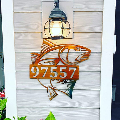 Redfish Monogram Painted
