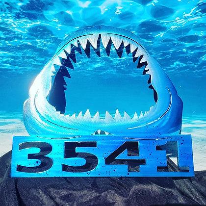 Bull shark jaws house numbers or monogram