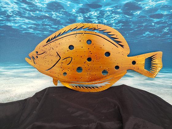 Fluke,flounder painted 26in across
