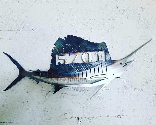 Sail Fish Monogram