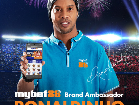 RONALDINHO ANNOUNCED AS MYBET88 BRAND AMBASSADOR