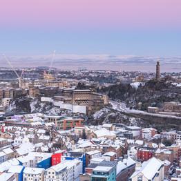 Edinburgh winter skyline