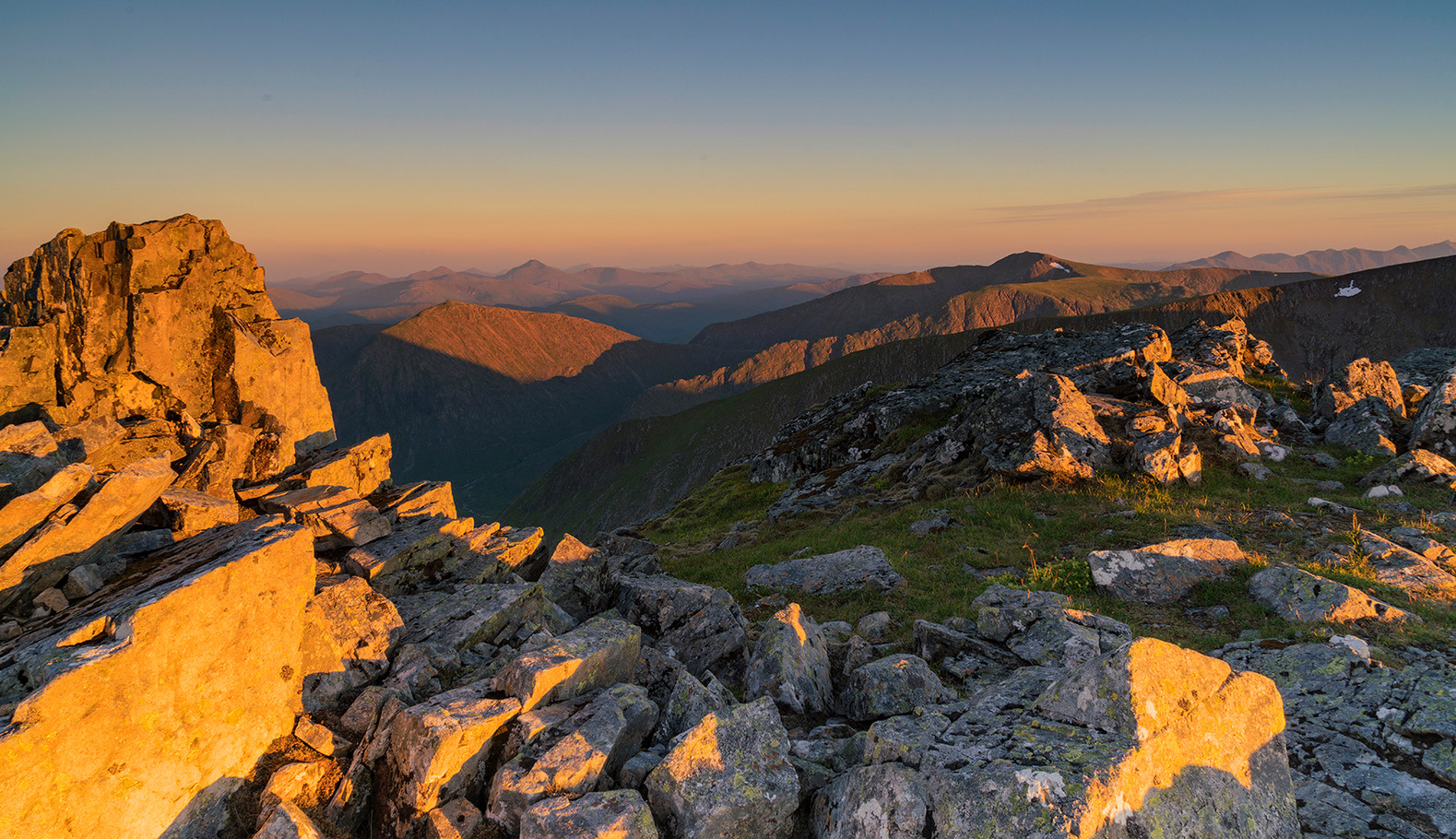 Sunset over Stob Ghabar