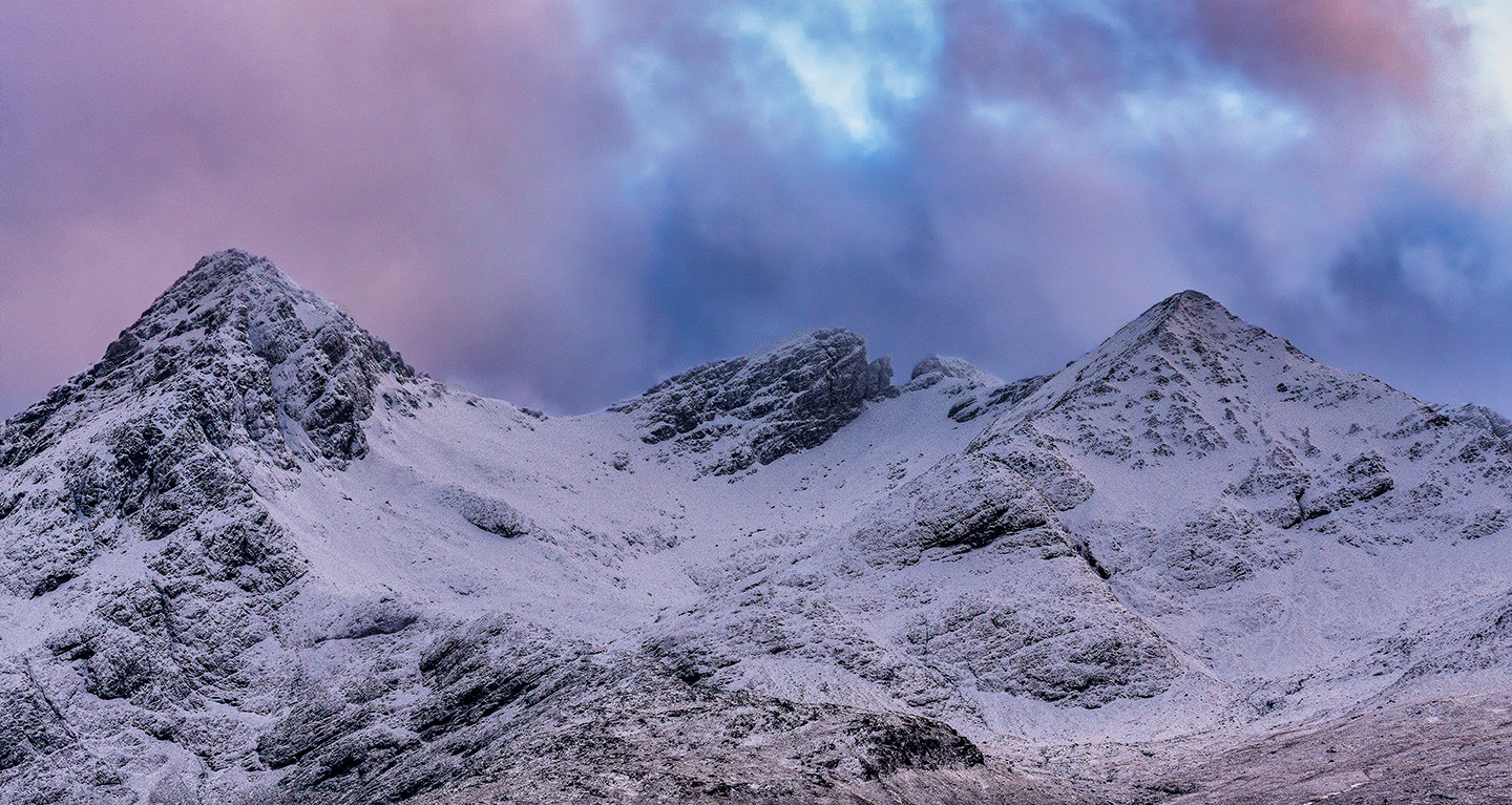 WInter over the black cuillin