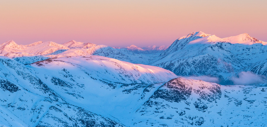Winter sunrise from Stob A 'Choire Odhair