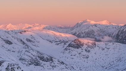 Alpine glow Glencoe & Etive