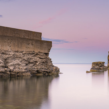 Fife coast, broken coastal wall