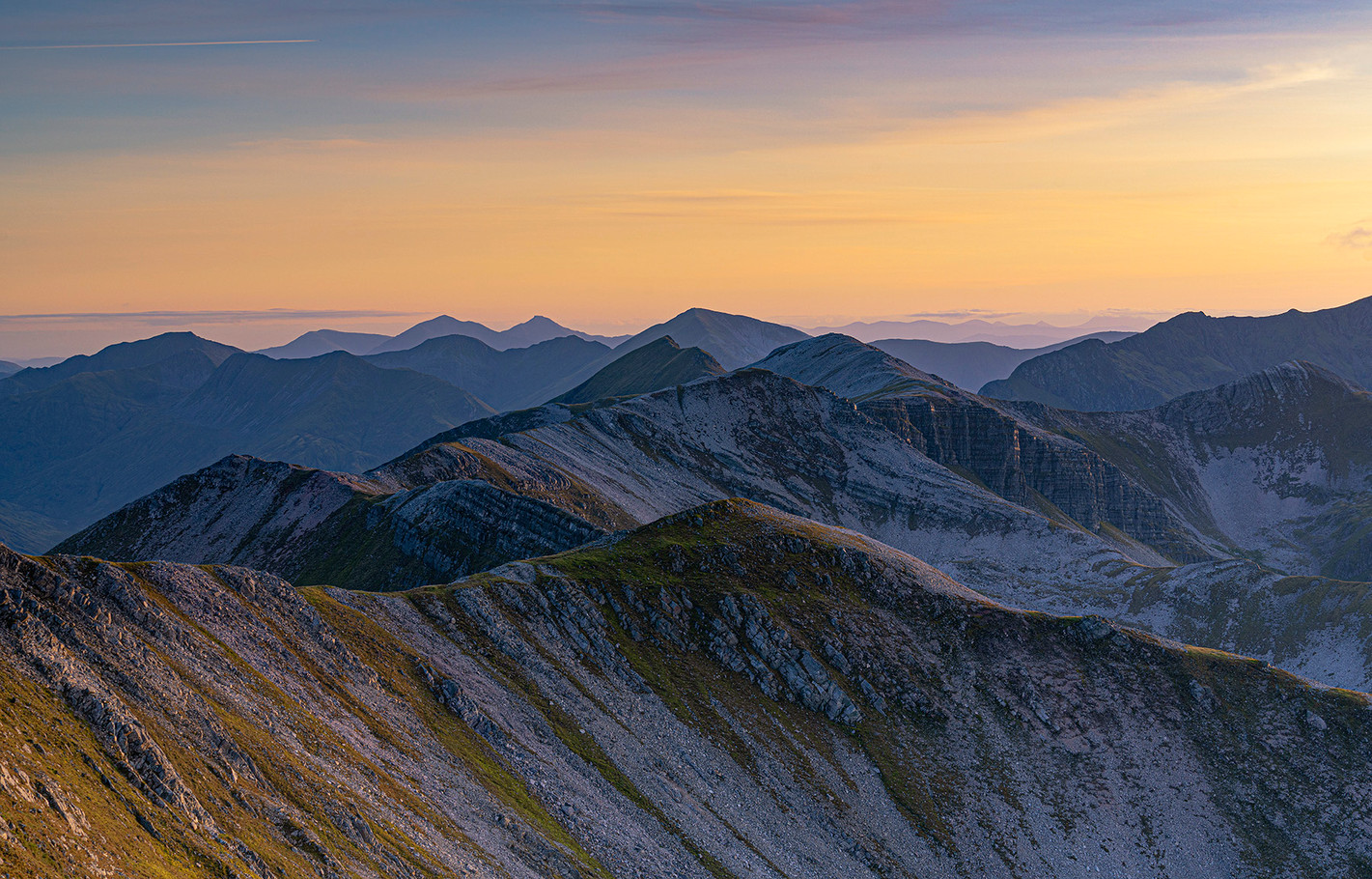 Sunset over the Grey Corries 2