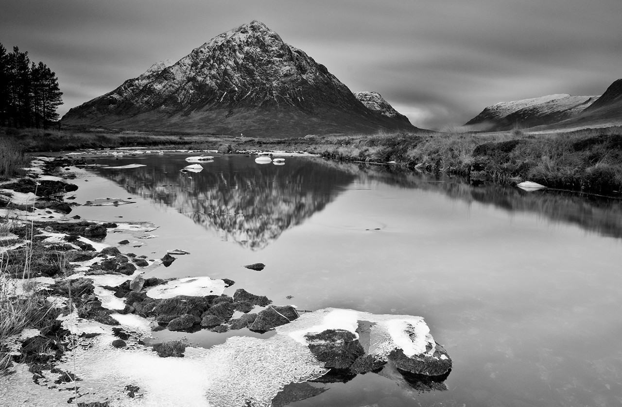 Reflection early winter Stob Dearg