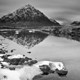 Reflection early winter Stob Dearg