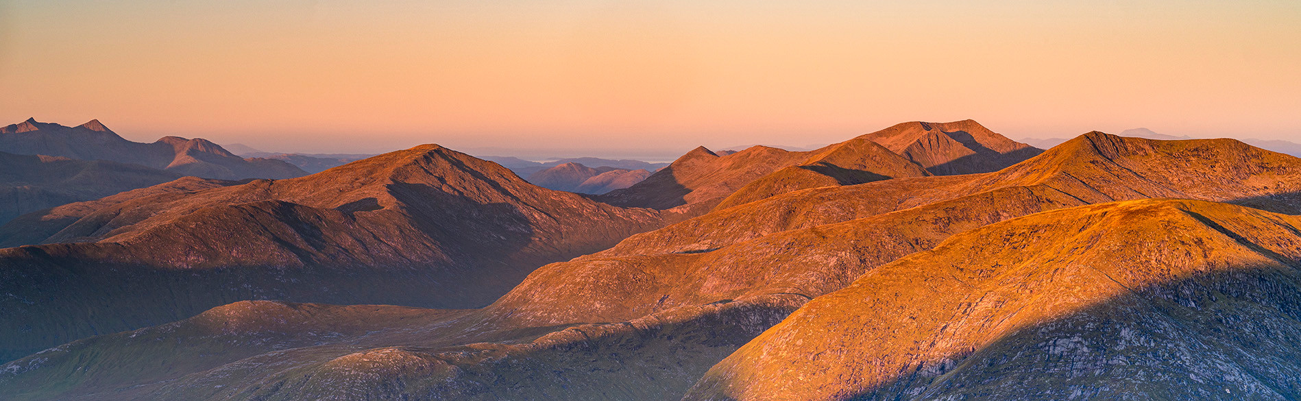 Autumn over the Etive summits