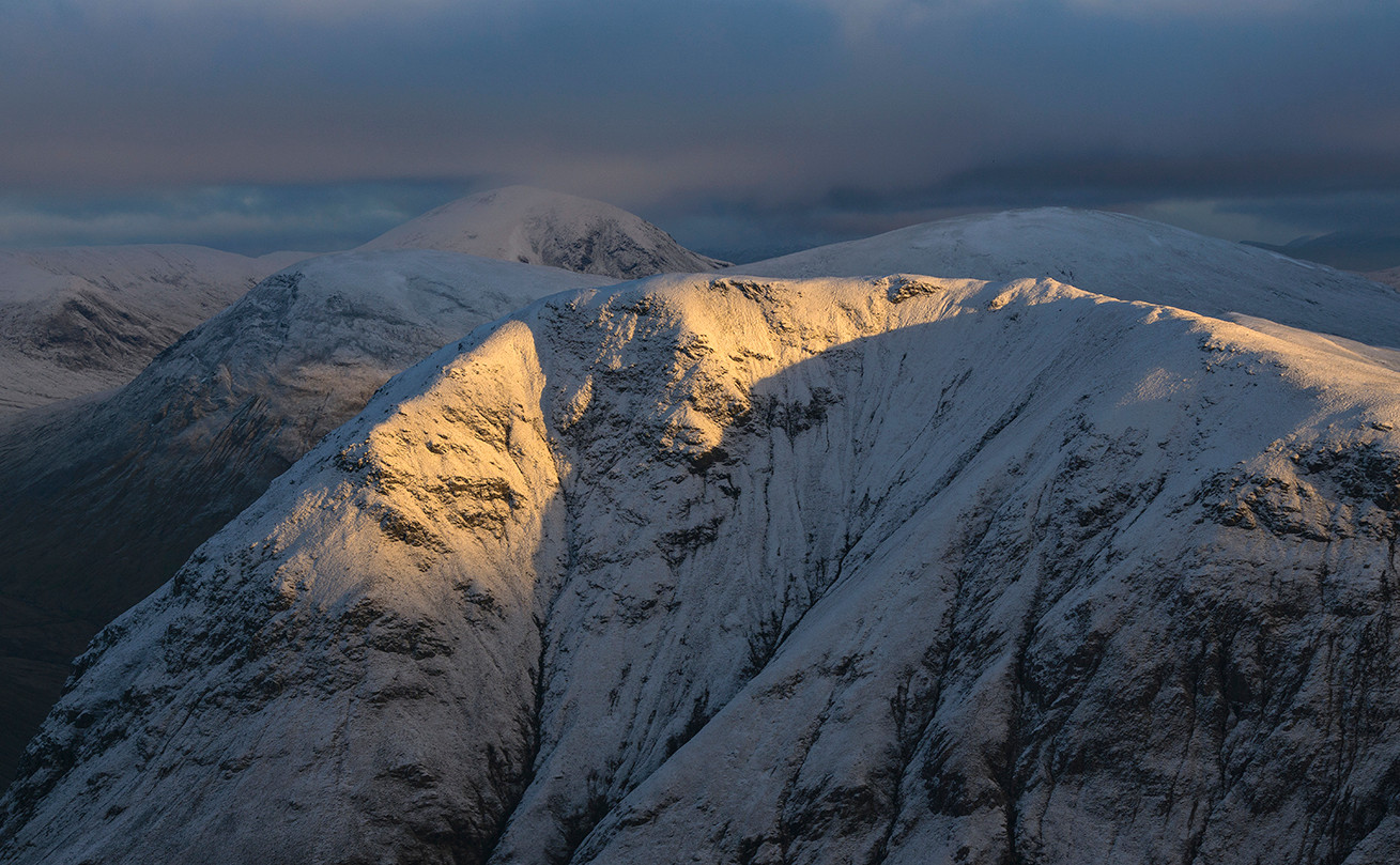 The Rannoch Wall winter light
