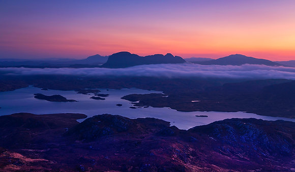 Sunrise over Suilven