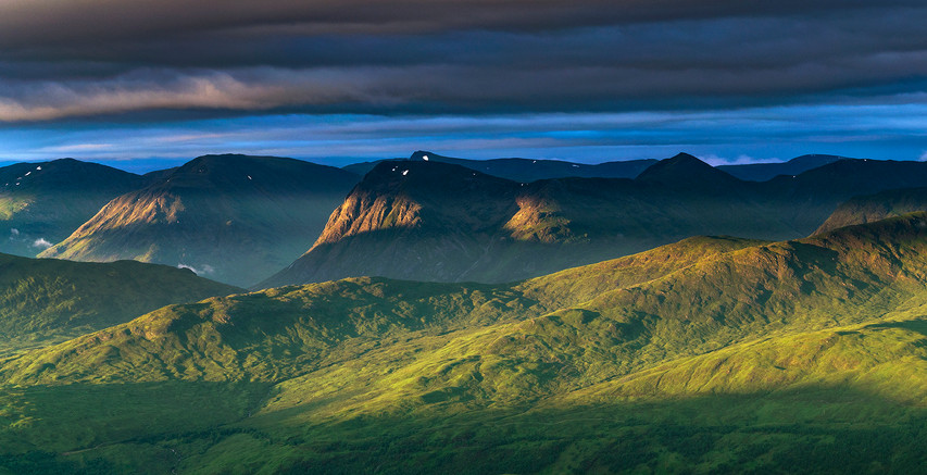 Summer sunrise from the Mamores