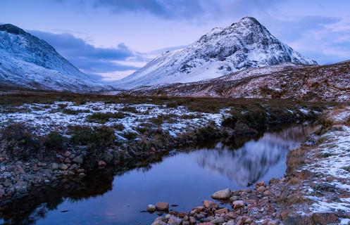 Buchailetive winter reflection