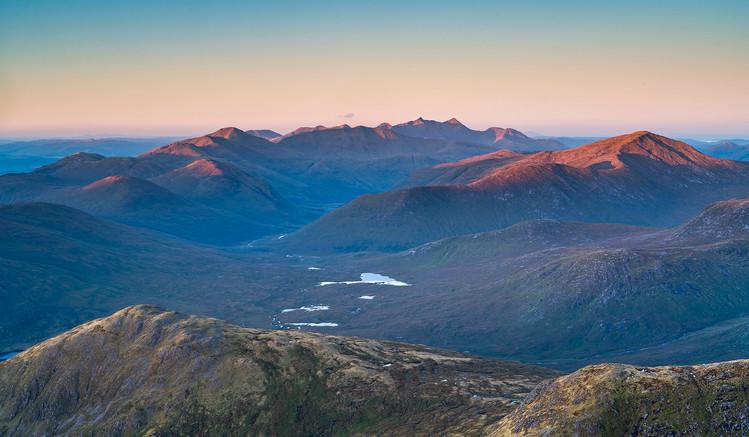West highland mountain sunrise