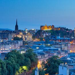 The golden castle Edinburgh skyline