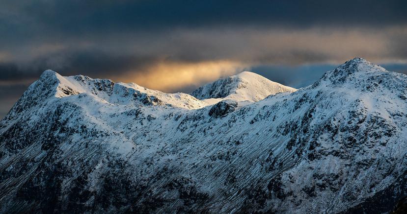 Wild light over Glenfinnan's hidden summits