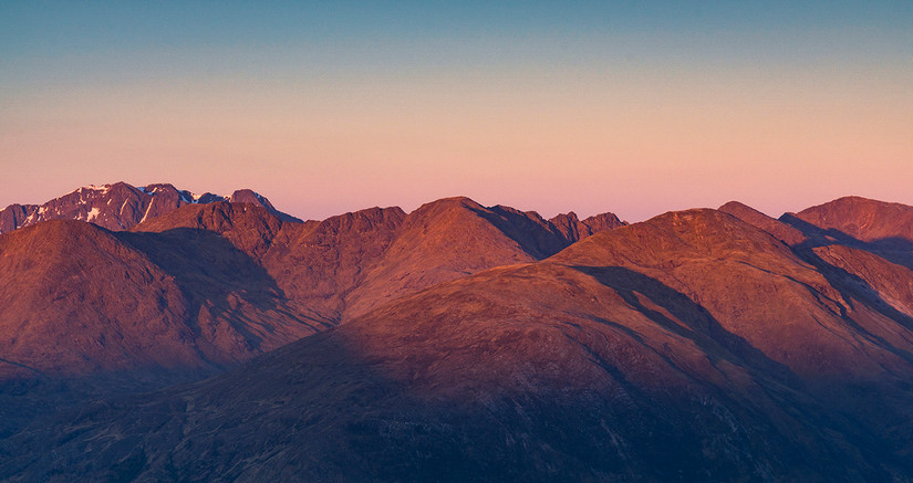 The Aonach Eagach from the other side