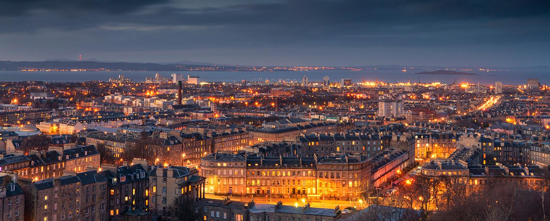 Edinburgh view of Leith