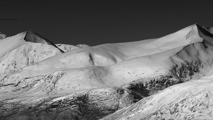 The last of winter over the Blackmount